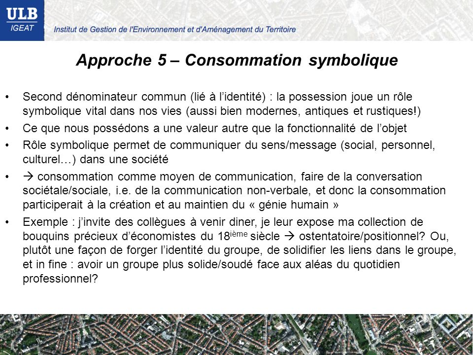 Approche 5 – Consommation symbolique