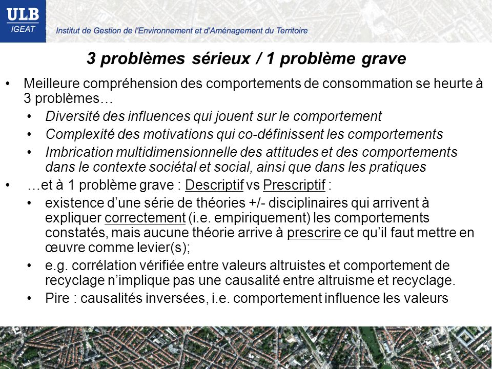 3 problèmes sérieux / 1 problème grave