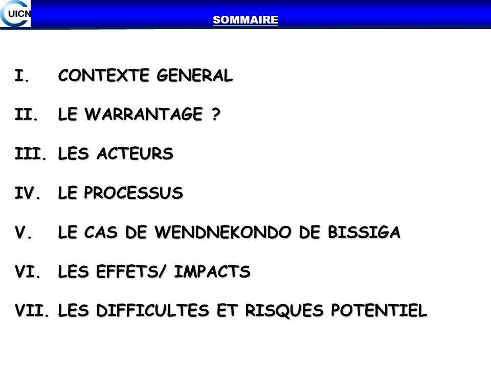 LE CAS DE WENDNEKONDO DE BISSIGA LES EFFETS/ IMPACTS