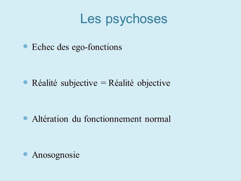 Les psychoses Echec des ego-fonctions