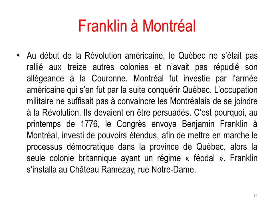 Franklin à Montréal