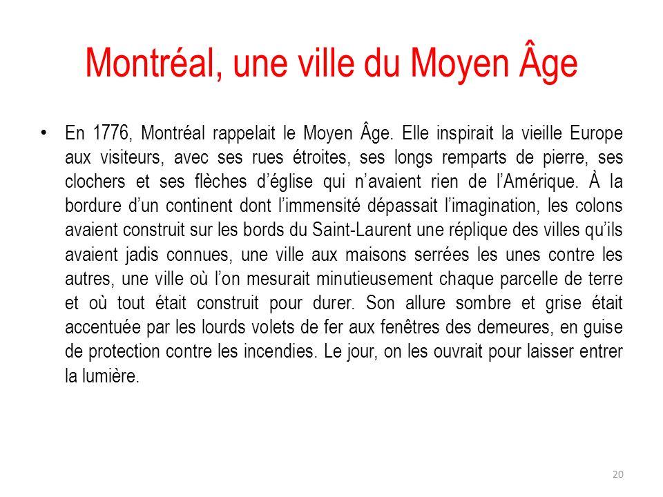 Montréal, une ville du Moyen Âge