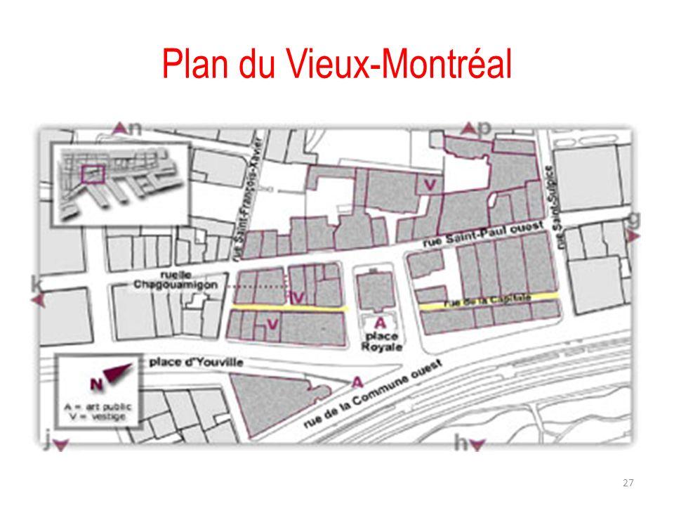 Plan du Vieux-Montréal