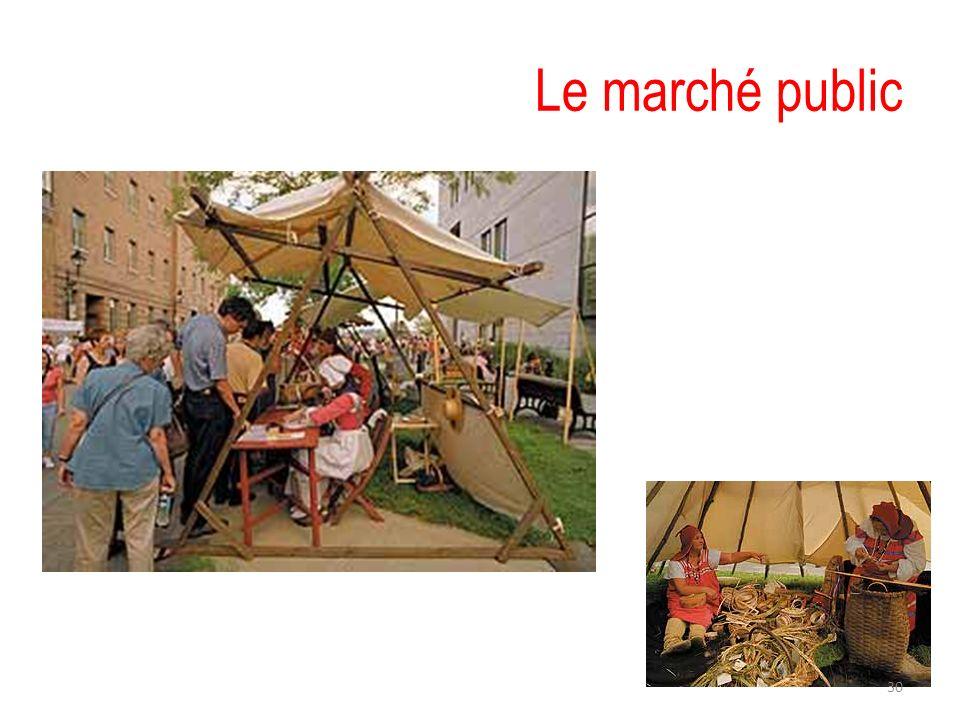 Le marché public