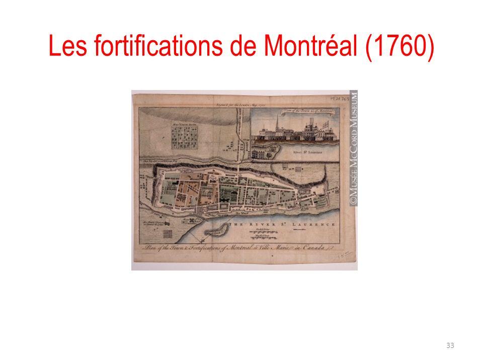 Les fortifications de Montréal (1760)