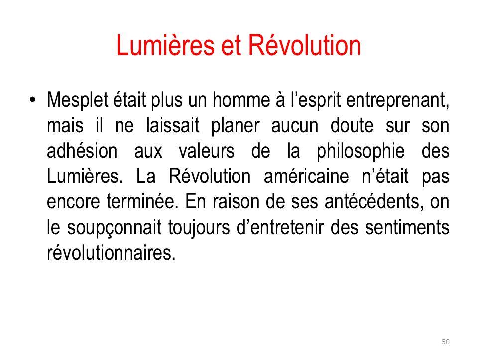 Lumières et Révolution