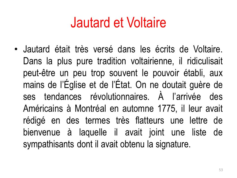 Jautard et Voltaire