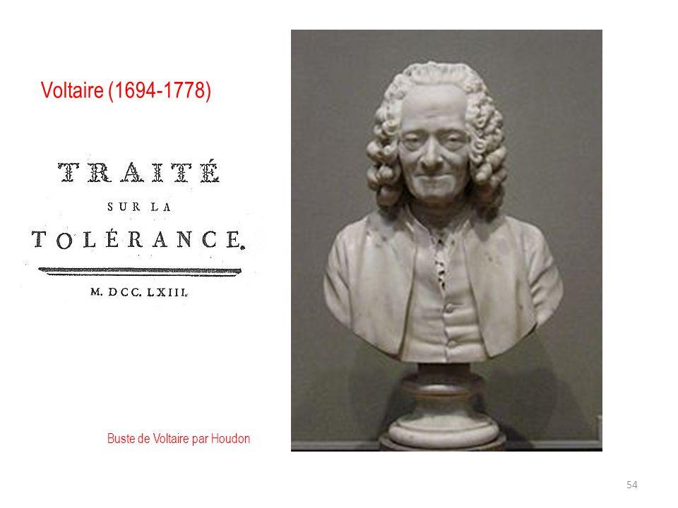 Voltaire (1694-1778) Buste de Voltaire par Houdon