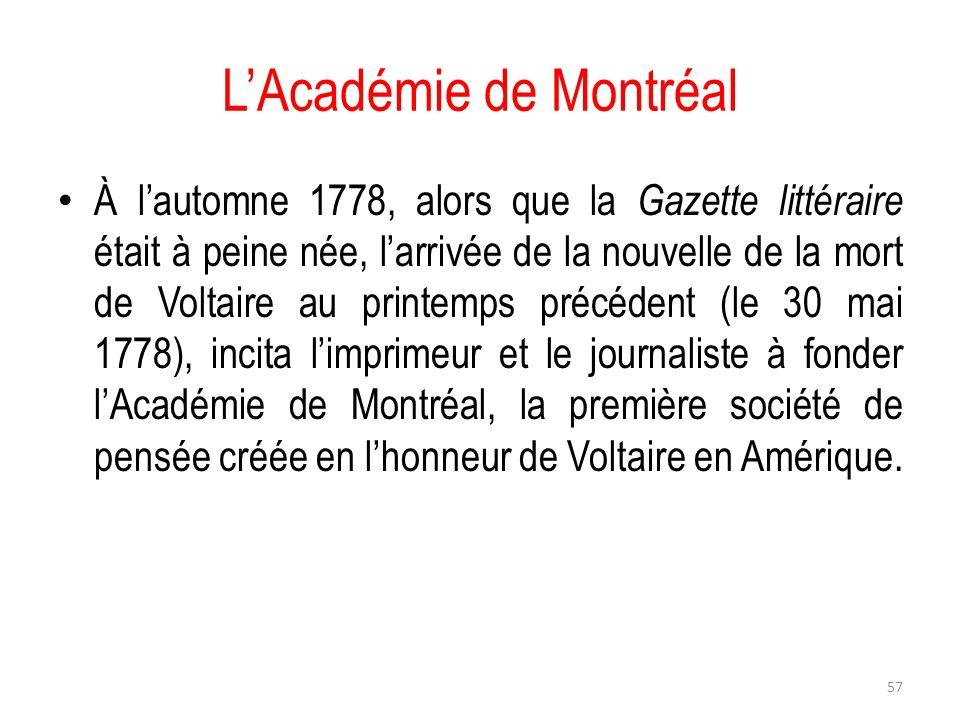L'Académie de Montréal