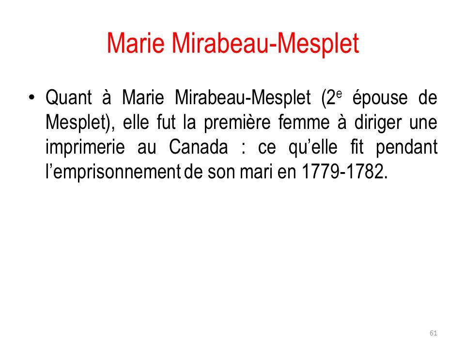 Marie Mirabeau-Mesplet
