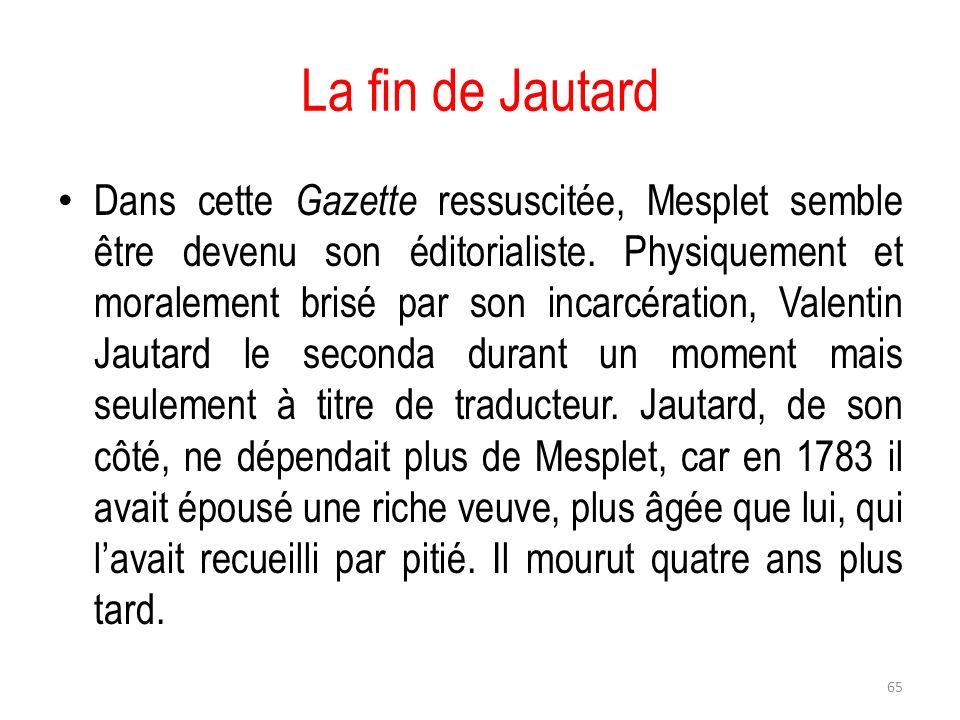 La fin de Jautard
