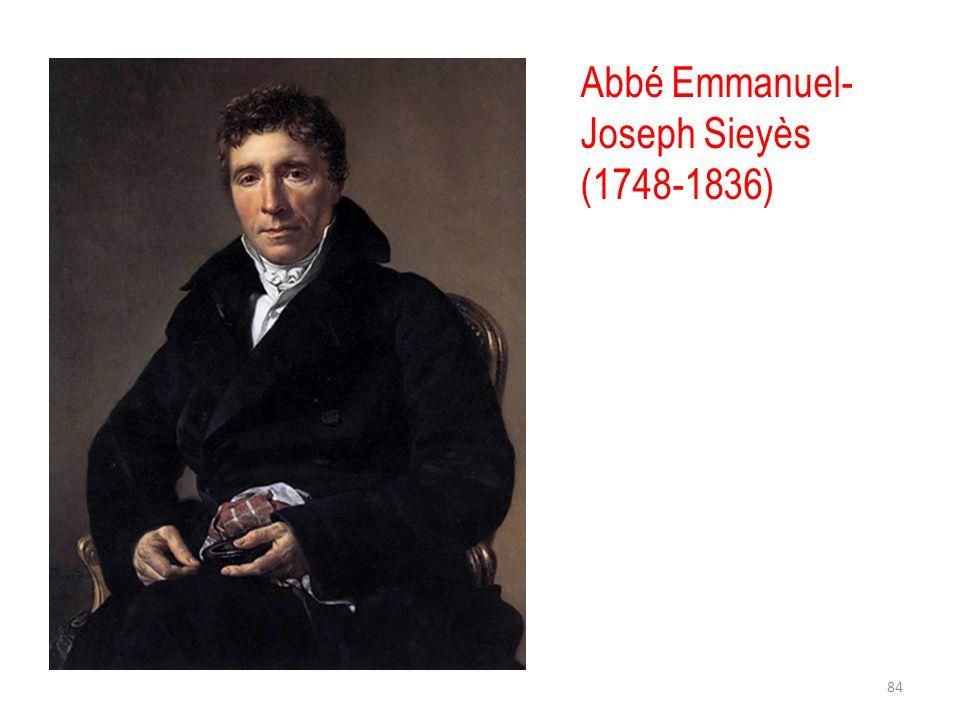 Abbé Emmanuel-Joseph Sieyès (1748-1836)