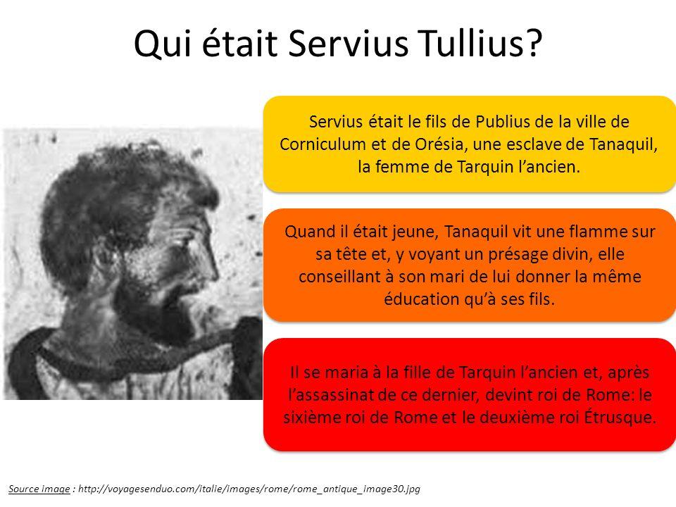 Qui était Servius Tullius