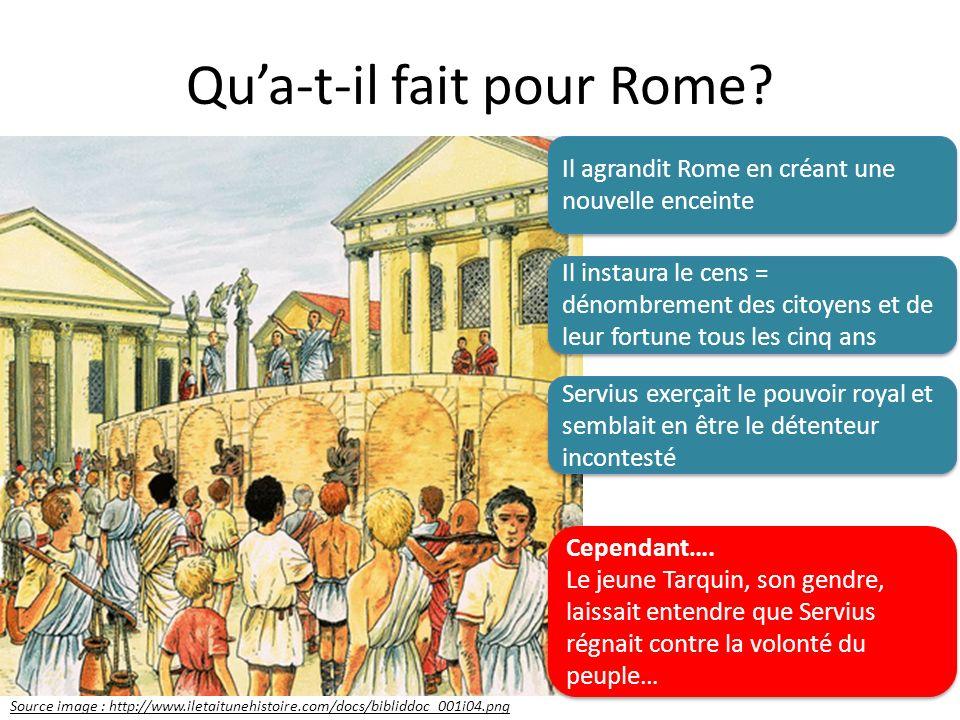 Qu'a-t-il fait pour Rome