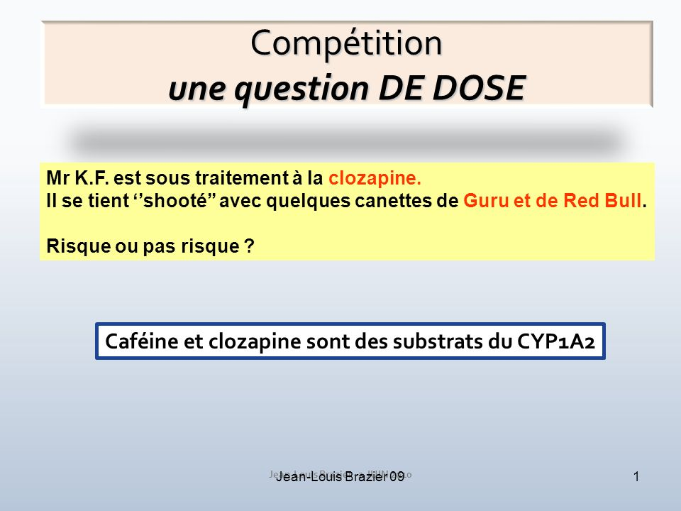 Compétition une question DE DOSE