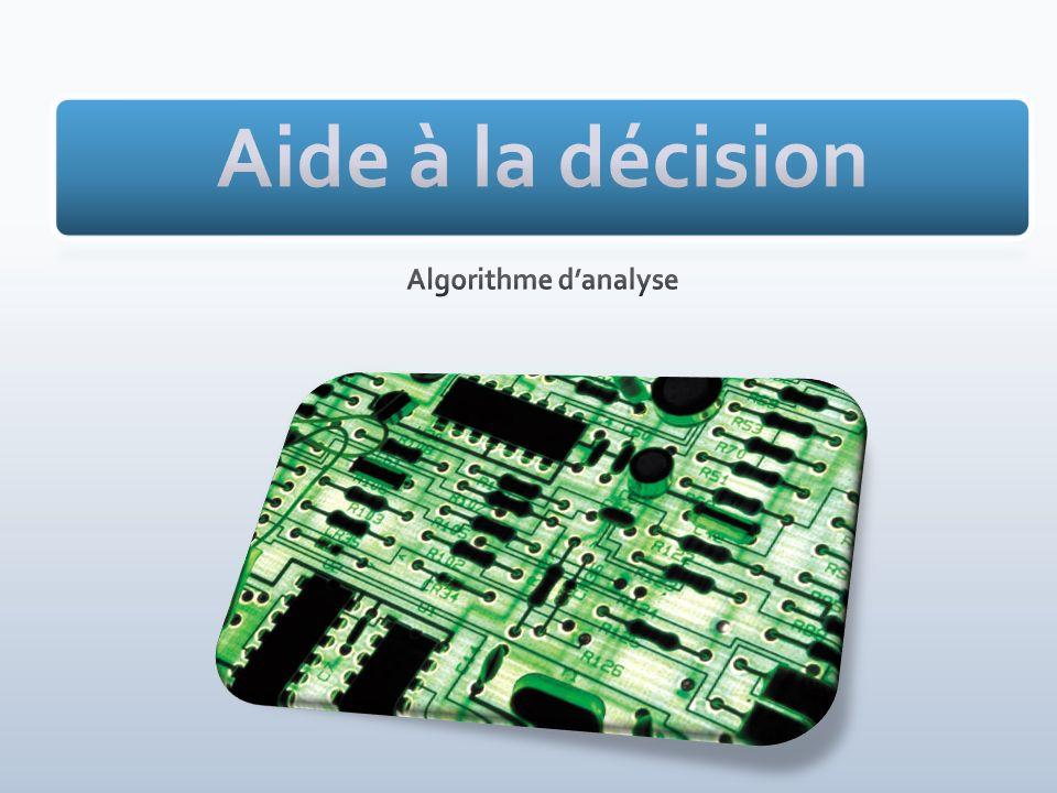 Aide à la décision Algorithme d'analyse