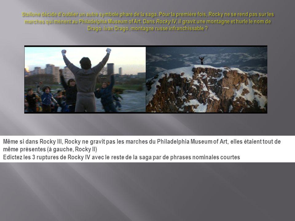 Stallone décide d'oublier un autre symbole phare de la saga