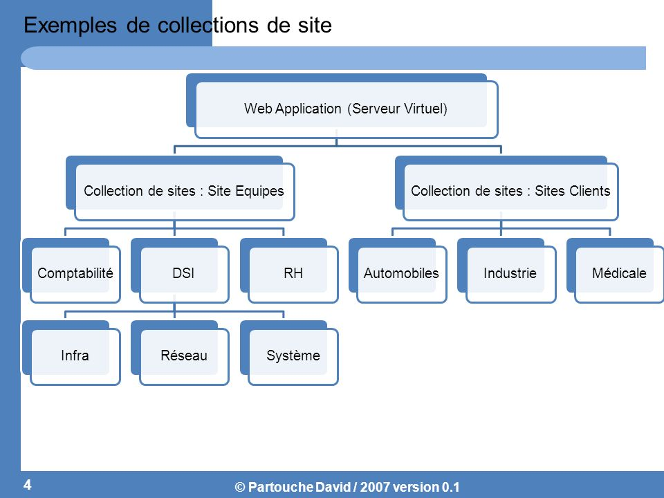 Exemples de collections de site