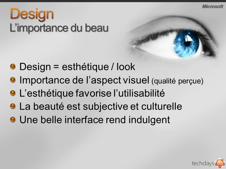 Design L'importance du beau