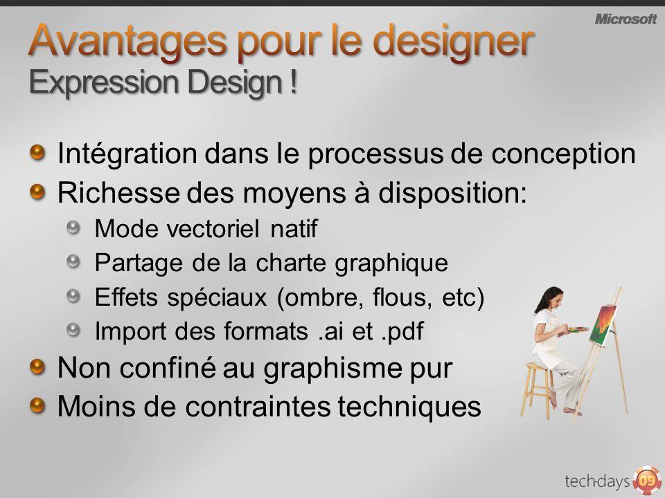 Avantages pour le designer Expression Design !
