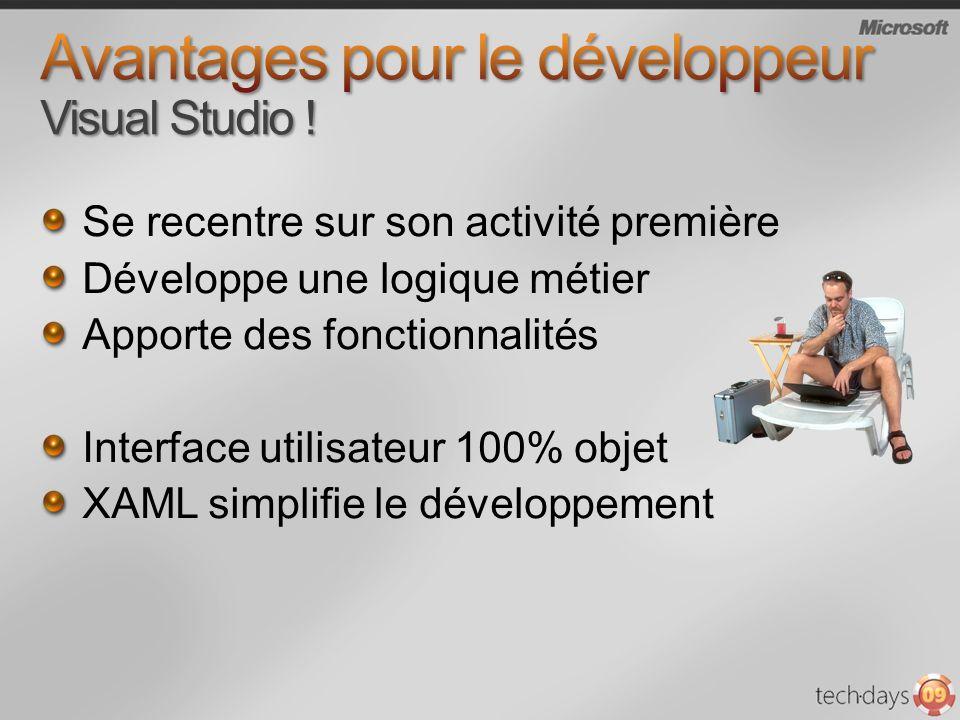 Avantages pour le développeur Visual Studio !