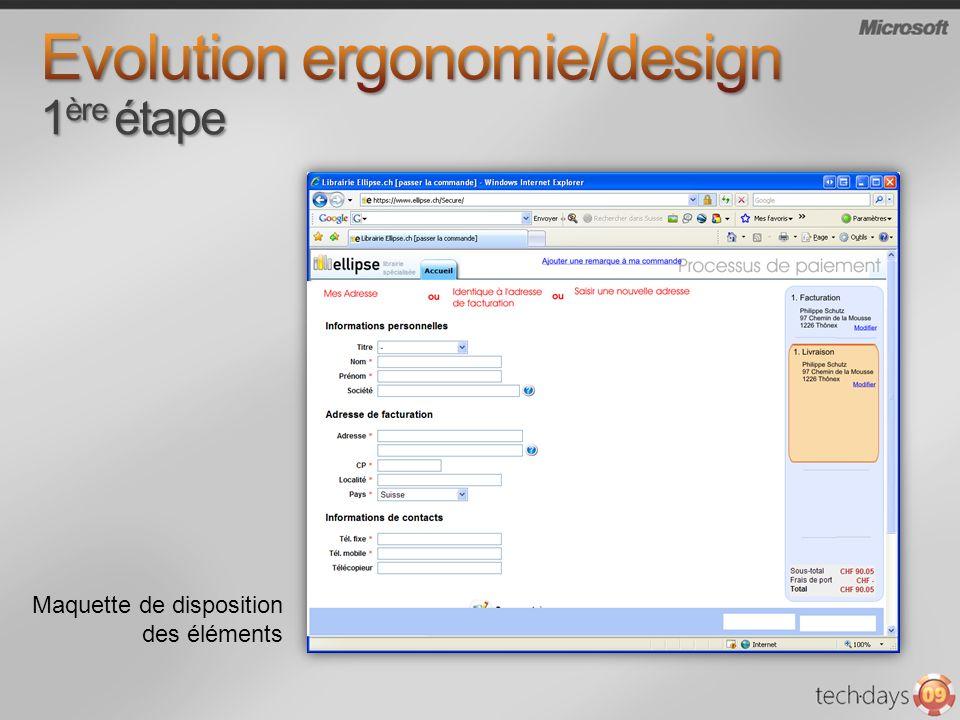 Evolution ergonomie/design 1ère étape