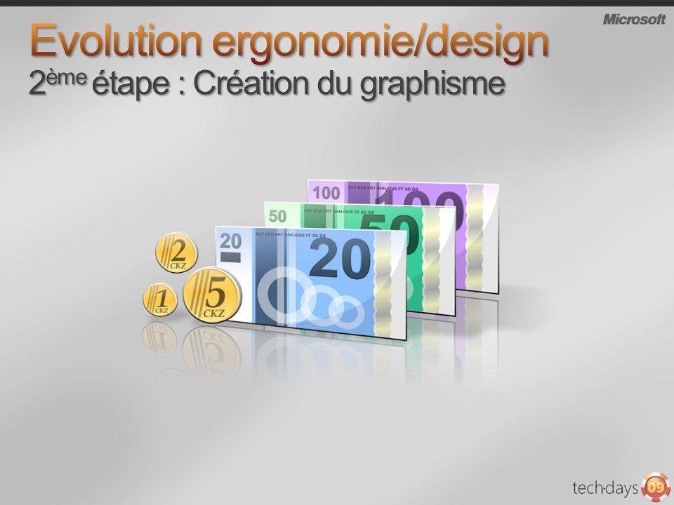 Evolution ergonomie/design 2ème étape : Création du graphisme