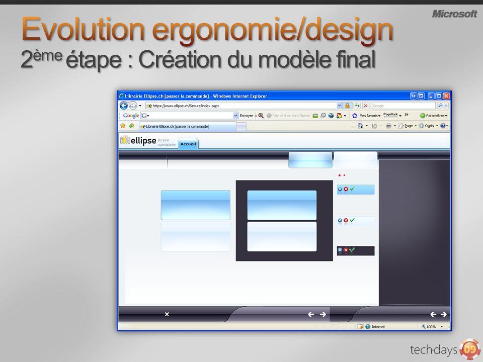 Evolution ergonomie/design 2ème étape : Création du modèle final