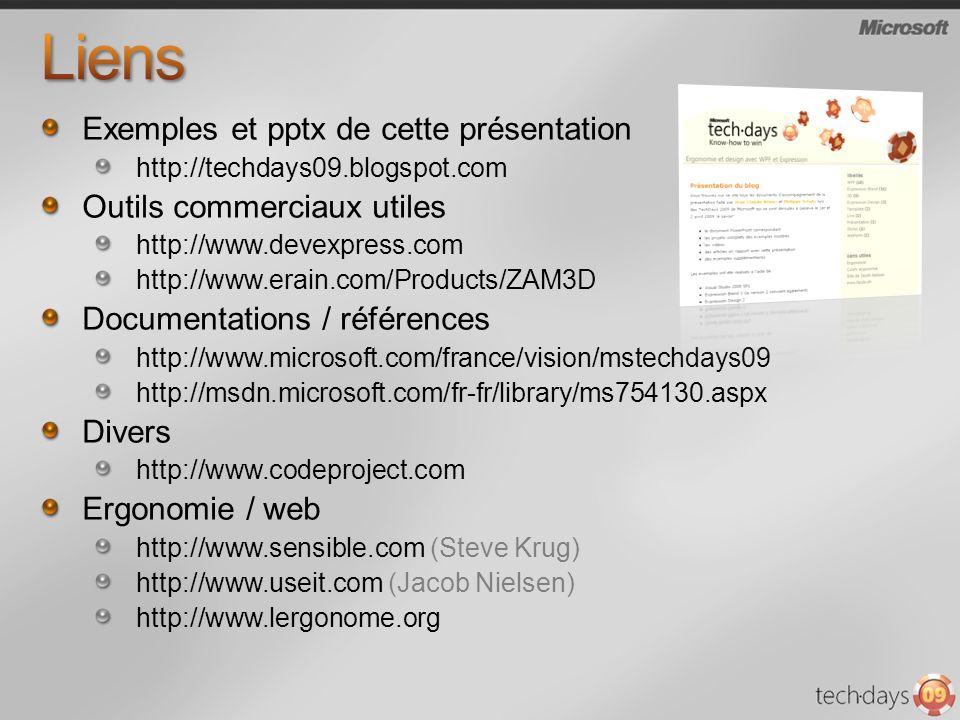 Liens Exemples et pptx de cette présentation Outils commerciaux utiles