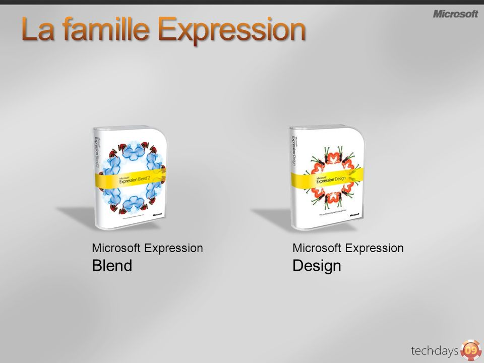 La famille Expression Microsoft Expression Blend