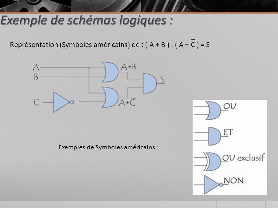 Exemple de schémas logiques :
