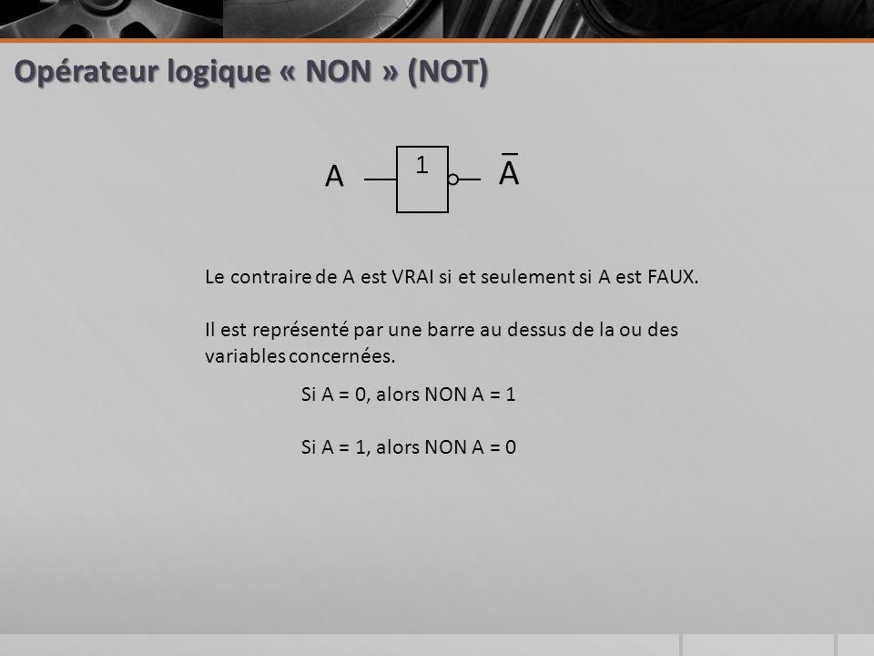 Opérateur logique « NON » (NOT)