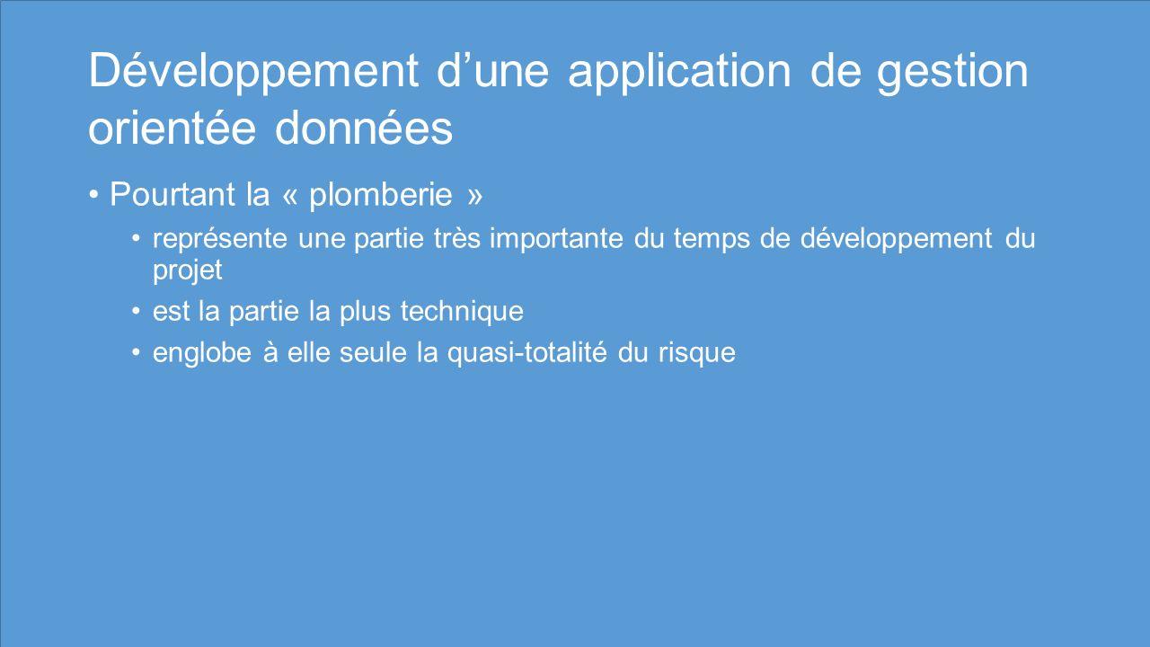 Développement d'une application de gestion orientée données