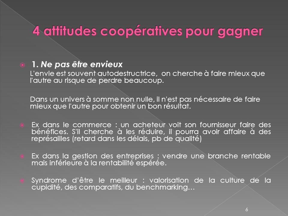 4 attitudes coopératives pour gagner