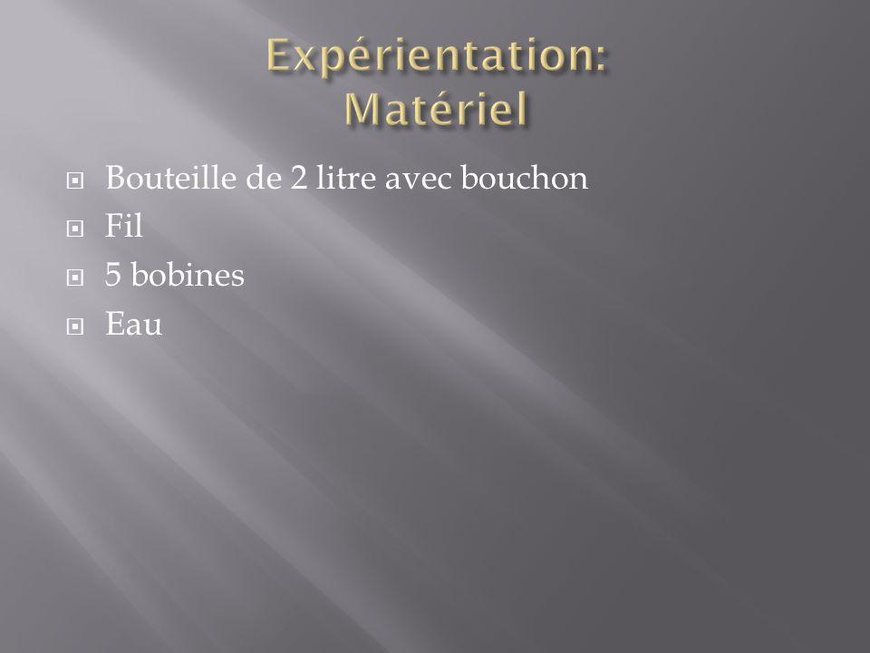 Expérientation: Matériel