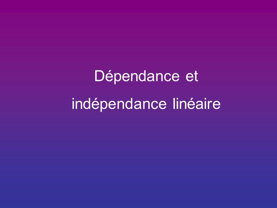 indépendance linéaire