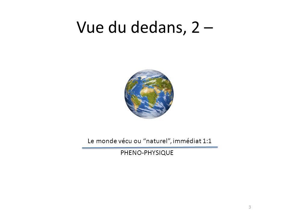 Vue du dedans, 2 – Le monde vécu ou naturel , immédiat 1:1