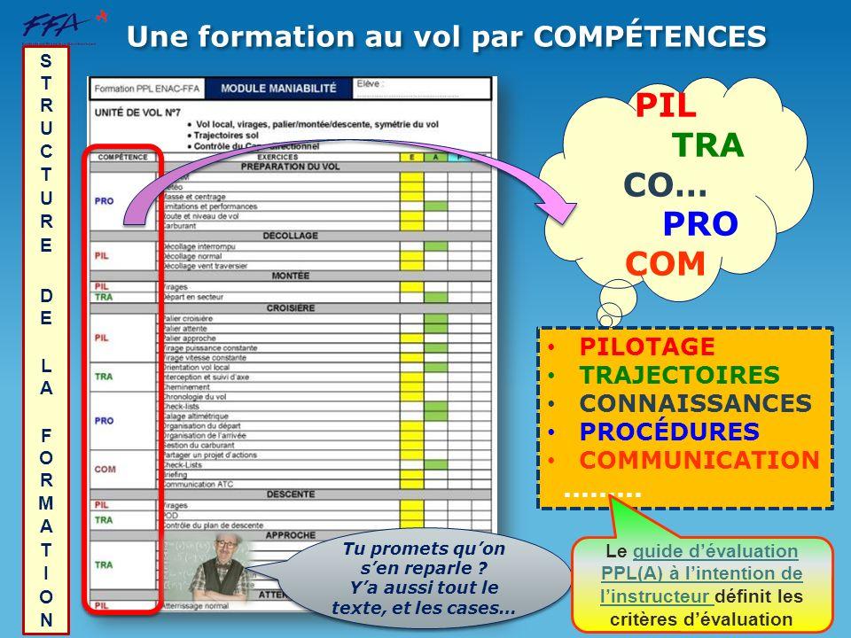 PIL TRA CO… PRO COM Une formation au vol par compétenceS PILOTAGE