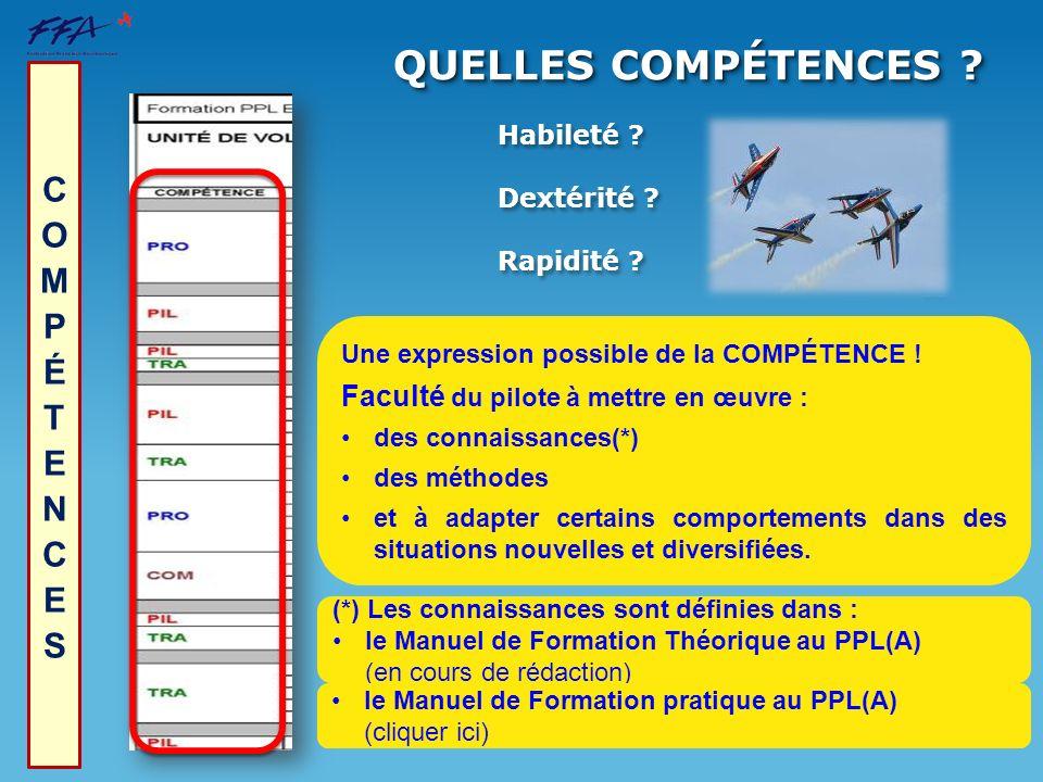 QUELLES COMPÉTENCES COMPÉTENCES