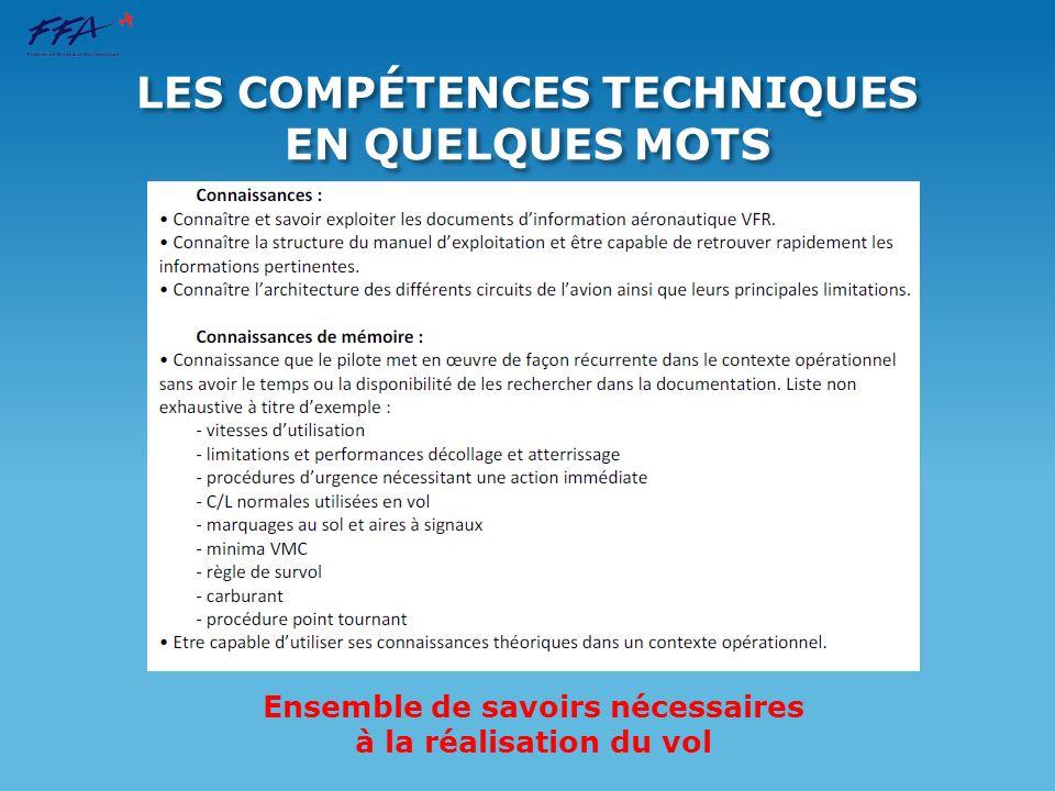 LES COMPÉTENCES TECHNIQUES EN QUELQUES MOTS
