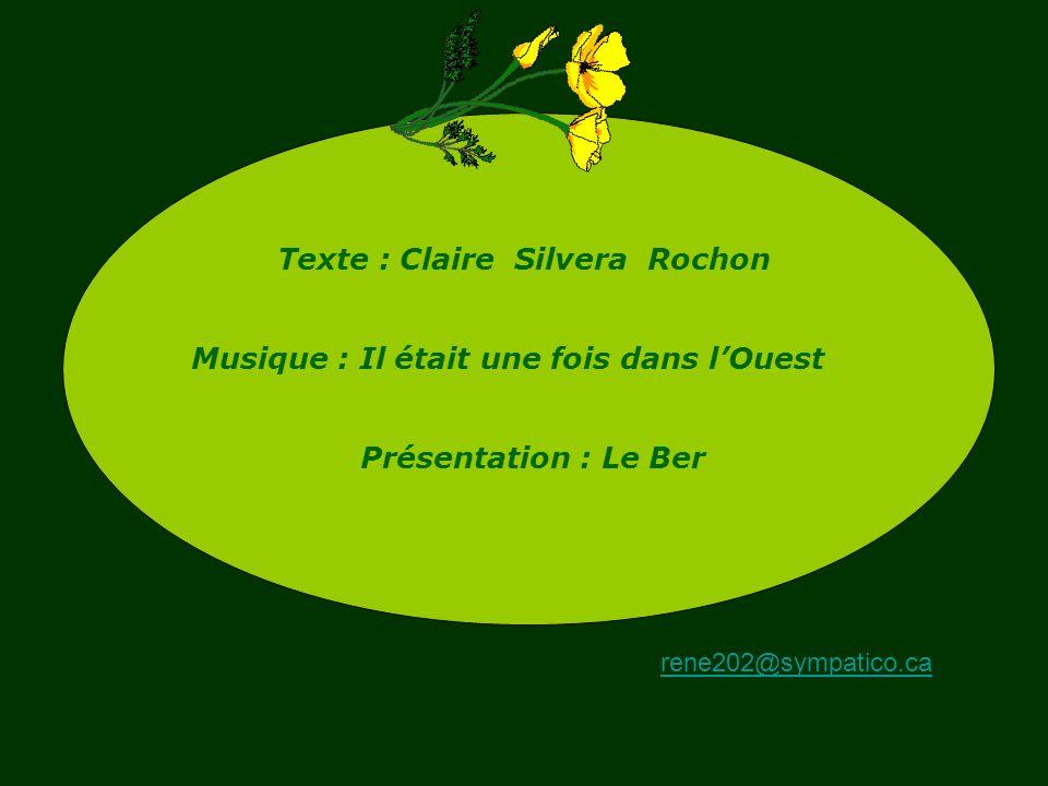 Texte : Claire Silvera Rochon Musique : Il était une fois dans l'Ouest