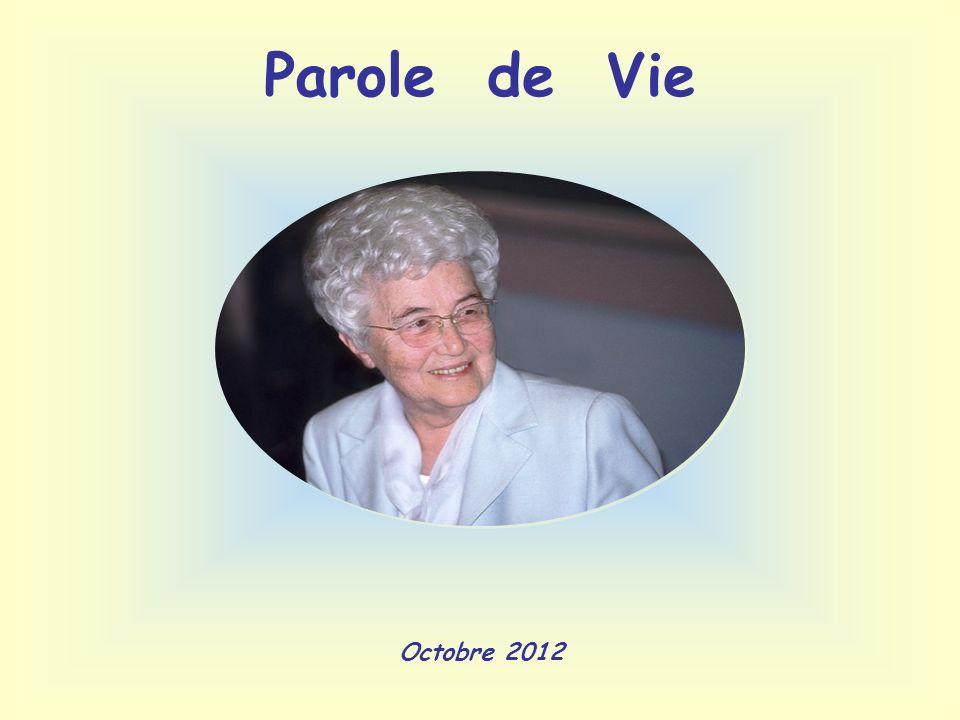 Parole de Vie Octobre 2012