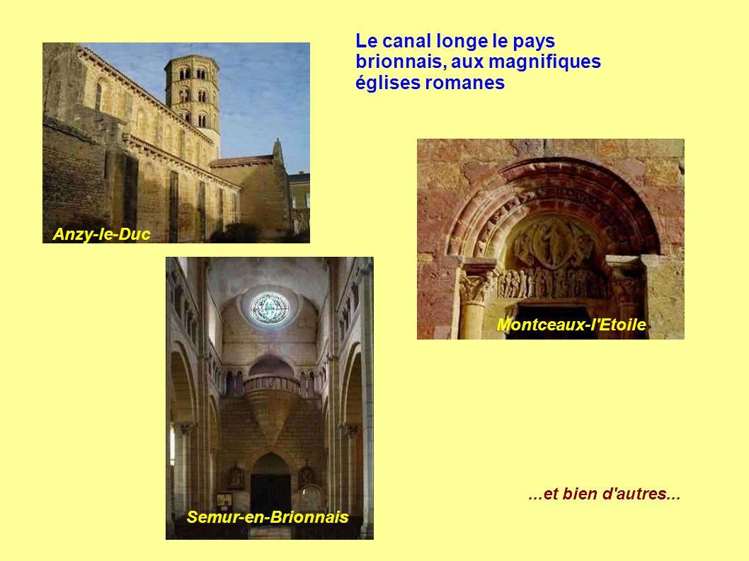 Le canal longe le pays brionnais, aux magnifiques églises romanes