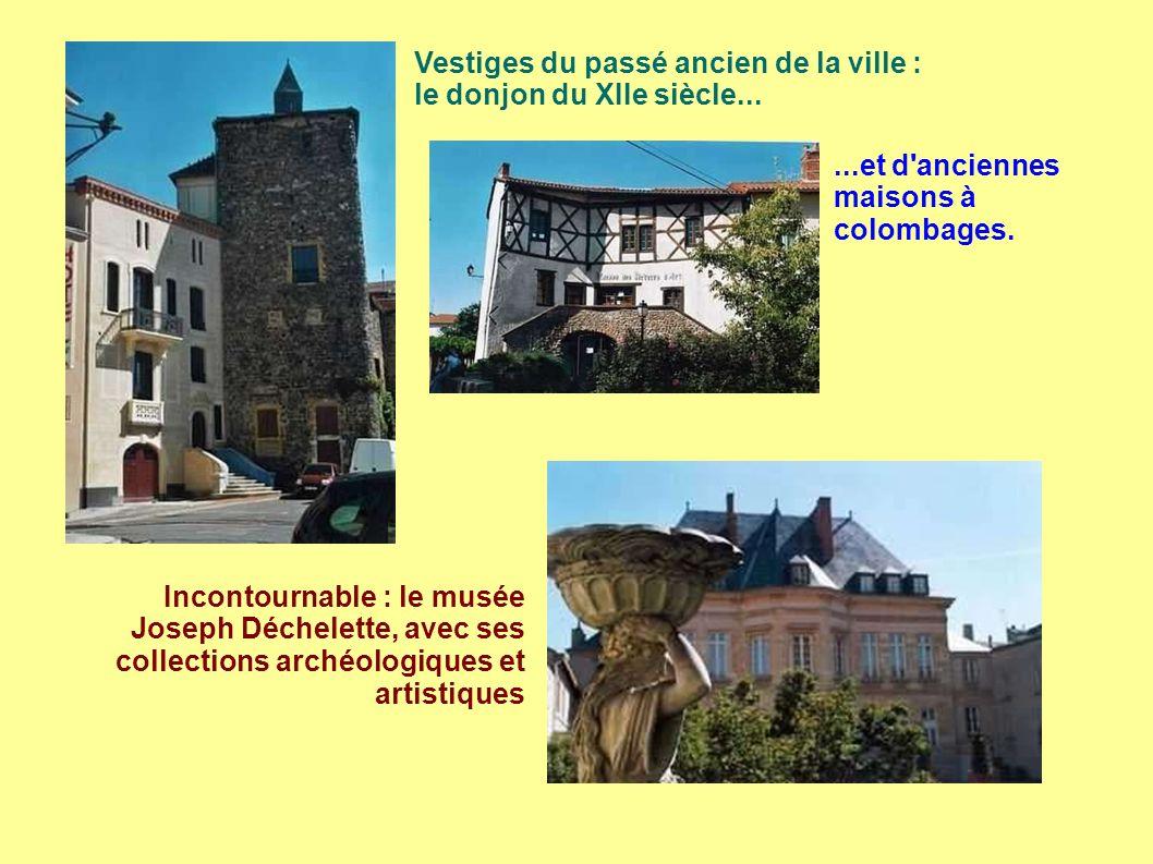 Vestiges du passé ancien de la ville : le donjon du XIIe siècle...