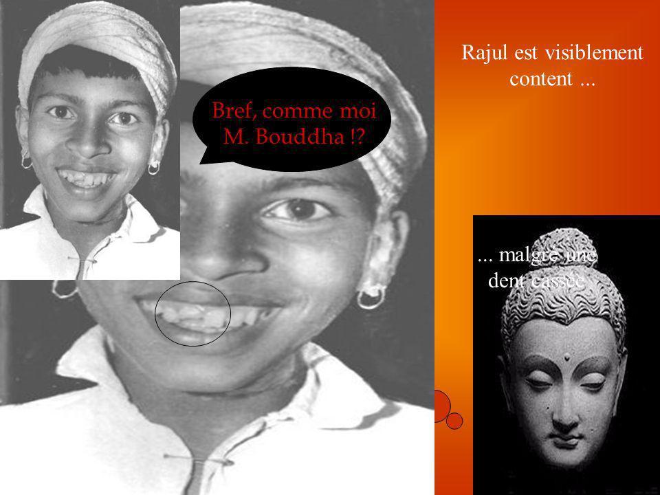 Bref, comme moi M. Bouddha ! Rajul est visiblement content ...