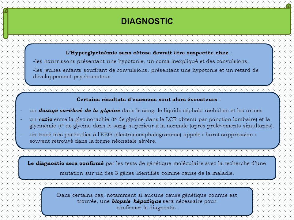 DIAGNOSTIC L'Hyperglycinémie sans cétose devrait être suspectée chez :