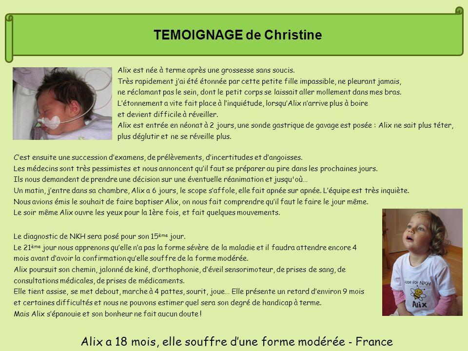 TEMOIGNAGE de Christine