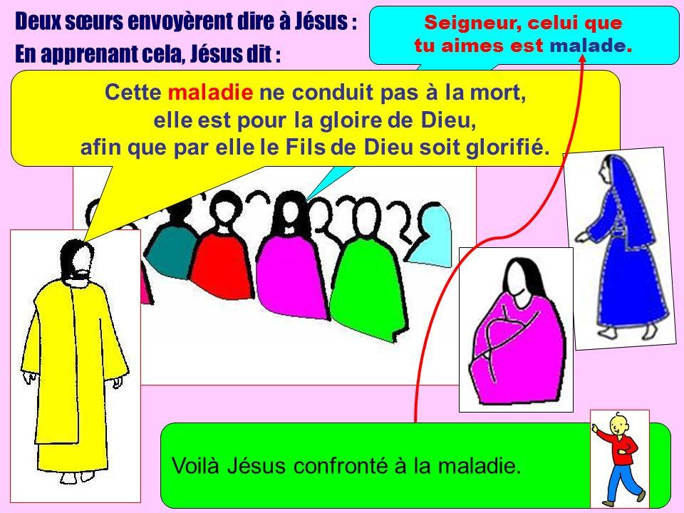 Deux sœurs envoyèrent dire à Jésus : En apprenant cela, Jésus dit :