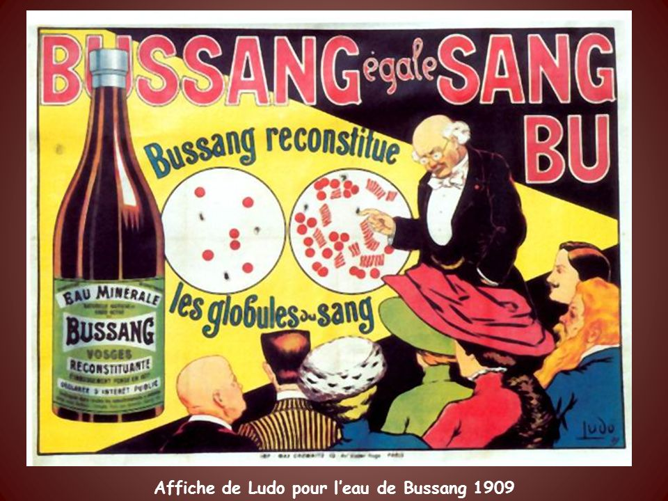 Affiche de Ludo pour l'eau de Bussang 1909