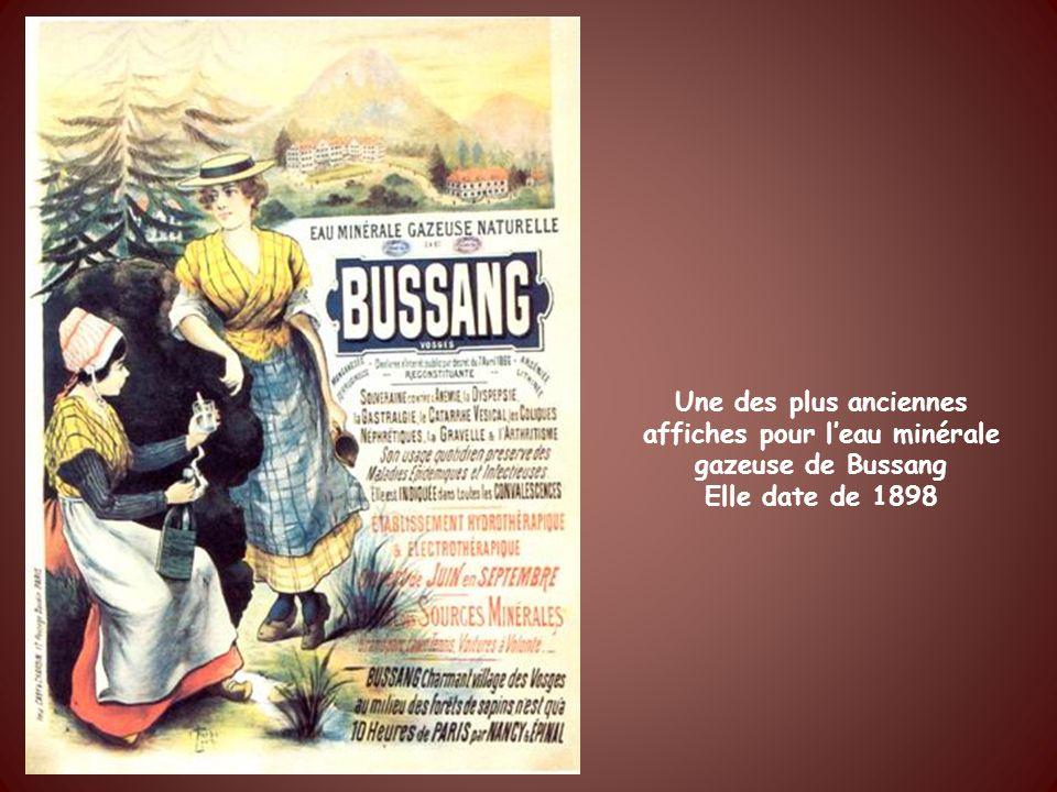 Une des plus anciennes affiches pour l'eau minérale gazeuse de Bussang